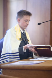 My son at his bar mitzvah